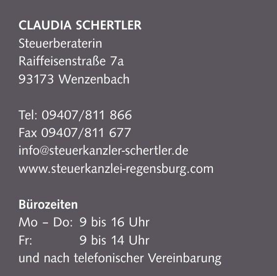 Claudia Schertler - Steuerberaterin