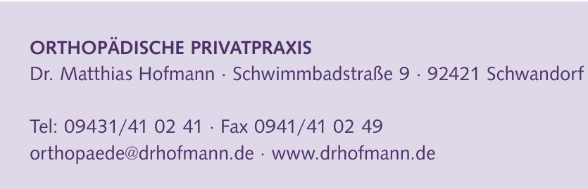 Orthopädische Privatpraxis Dr. Matthias Hofmann